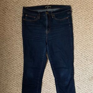 J. Crew High Rise Dark Skinny Denim